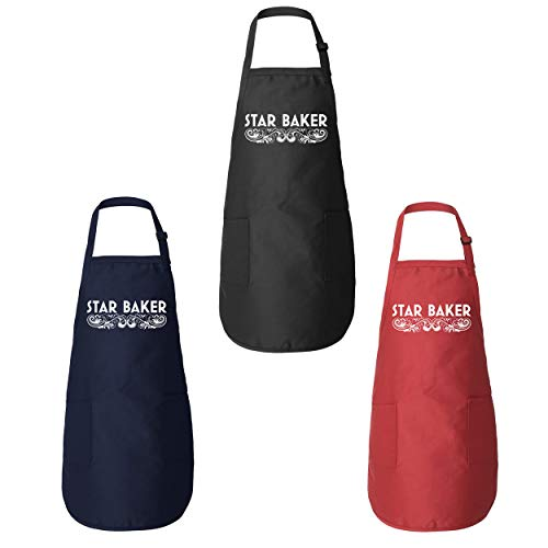 Star Baker Funny Amateur Baker American British Baking Show Pastry Chef Gift Kitchen Apron Red