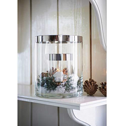 Riviera Maison - Double Hurricane - Windlicht doppelwandig - Größe: S - zum individuellen ausdekorieren - Glas mit Silberrand