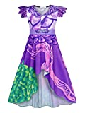 HenzWorld Cartoon Costume Dresses for Little Girls Role Cosplay Princess Birthday Party Outfits 3D Printed Irregular Skirt Purple Colors Kids Children 4T 5T Age 4-5 Years