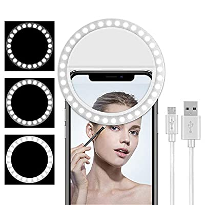 Cell Phone Selfie Ring Light for iPhone,Led Circle Selfie Light Ring Rechargeable Portable for Phone Camera IPad Laptop Live Stream/Makeup/Video Photography from saveyour