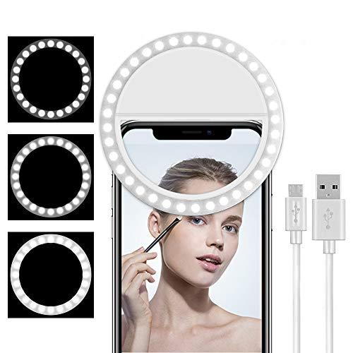 Cell Phone Selfie Ring Light for iPhone,Led Circle Selfie Light Ring