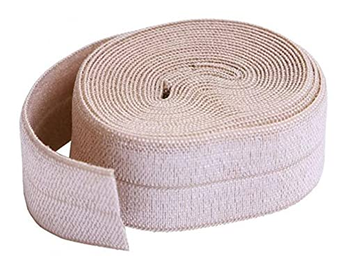 By Annie 3/4In X 2Yd Natural Fold-Over Elastic