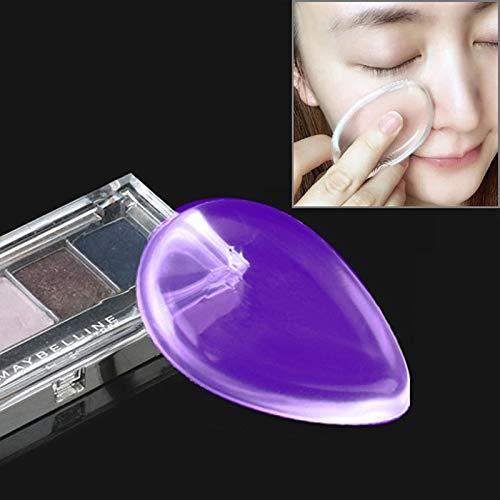 Santé et beauté Waterdrop en forme de grande beauté maquillage facial transparent silicone lisse poudre crème souffle Houppette (Couleur : Violet)