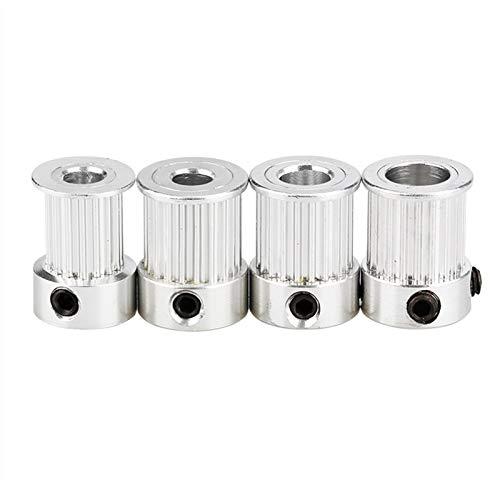 XBaofu 5pcs GT2 Zahnriemenscheibe 16 / 20Teeth Zahnradbohrung 5/6.35 / 8MM for GT2 Riemenbreite 10mm Alumium for 3 D Druckerzubehör Gute Qualität (Farbe : 5pcs, Größe : 20T 5B 10mm)