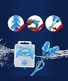FLZONE Nasenklammer Schwimmen,6 Stück Silikon Ohrstöpsel und Nasenclip-Set,Wasserdichter Nasenclip-Silikon zum Schwimmen oder Schlafen (6 Farben) - 3