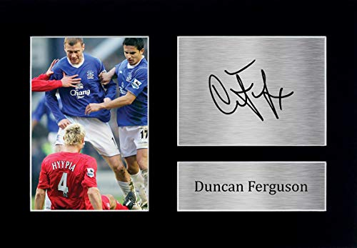 HWC Trading Duncan Ferguson Gift Signed A4 Printed Autograph Everton Gifts Photo Display