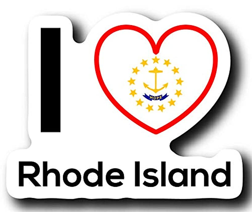 Love Rhode Island State Decal Sticker Home Pride Travel Car Truck Van Bumper Window Laptop Cup Wall - One 5 Inch Decal - MKS0039