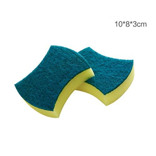 Reinigingsspons, dubbelzijdige spons, multifunctionele schuurspons, antibacteriële microvezelspons, reinigingsborstel voor keukenspons, 20 stuks, (vorm van de taille/vierkante vorm)