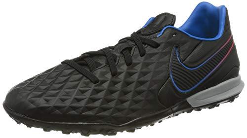 Nike Unisex Tiempo Legend 8 Pro TF Football Shoe, Black/Black-Siren Red-Light Photo Blue-Cyber, 43 EU