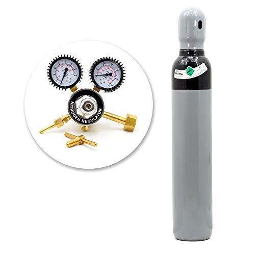 Bombona de nitrógeno y hidrógeno, 8 litros, 1,8 m3, para aire acondicionado, prueba de fugas, reductor de fugas
