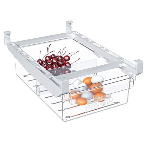 organizadores de frigorífico, Caja de Almacenamiento para frigorífico extraíble con 2 Secciones divididas, se Utiliza para almacenar Huevos, Verduras, Frutas, etc.HUONIUPIC