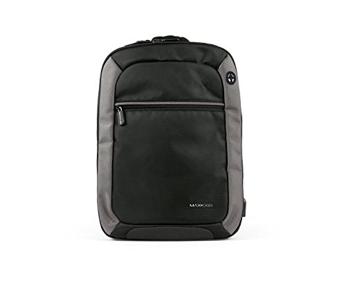 Max Cases Notebook Backpack  Travel Backpack with USB Charging Port amp Headphones for Business and School  up to 156quot Laptop/MacBook Bag  Dedicated 10quot Tablet Compartment