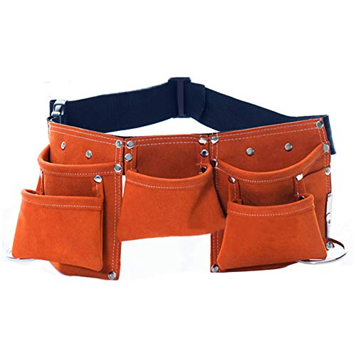 MYCreator Multi-Pockets Kids Tool Belt, Children's Lederen Tool Riem Bouw Tool Tas Schort met Verstelbare Band voor Jongens Meisjes Kostuums Dress Up Role Play BRON