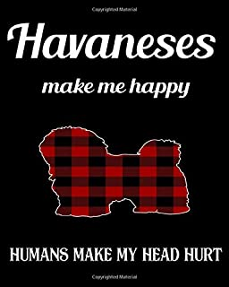 Havaneses Make Me Happy Humans Make My Head Hurt: Dog Breed Notebook 2020 Monthly Planner Dated Journal 8