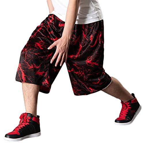 YUEMO Pantalones cortos de baloncesto de la NBA para hombre, de verano, 3/4, 6, XXL