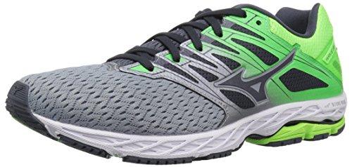 Mizuno Men's Wave Shadow 2 Running Shoe, Trade Winds/Green Gecko, 7.5 D US