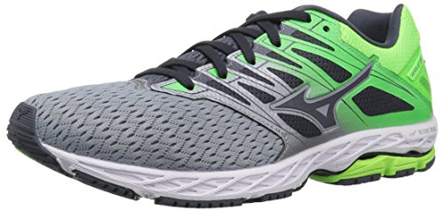 Mizuno Men's Wave Shadow 2 Running Shoe, Trade Winds/Green Gecko, 7.5 D US