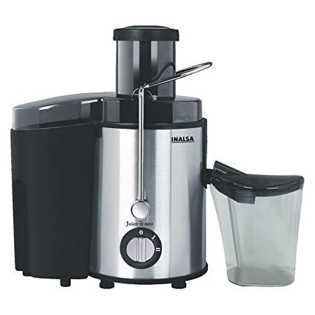 Inalsa Juice It Neo 500-Watt Juicer with Pulp Collector (Black/Silver)