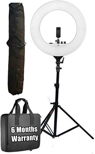 OCTOVA Ring Light 18 inch with Stand; 55W 5500K Dimmable LED Kit AC Powered; Vlogging, for Camera; Smartphone; YouTube; Self Portrait Shooting; Tiktok; Musically; Makeup Artists; Product Photography