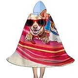Amanda Walter Mantello Mantello con Cappuccio per Bambini Due Chihuahua sull'amaca per la Festa di Natale di Halloween, Costumi da Vampiro Strega Strega Cosplay Bambino con Cappello