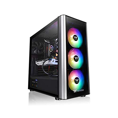 Thermaltake CA-1M7-00M1WN-00 Level 20 MT ARGB Mid Tower Tempered Glass Computer Case - Black