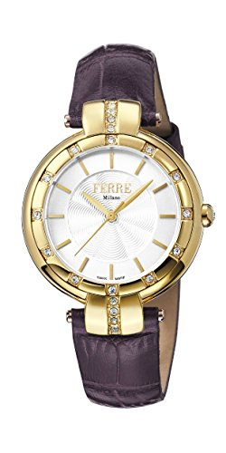 Ferre Milano Damen Analog Quarz Uhr mit Leder Armband FM1L069L0031