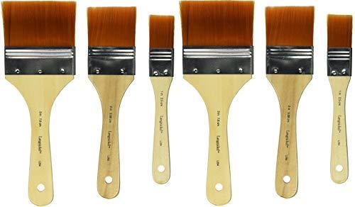 Royal Brush Golden Taklon Paint Brushs, Assorted Sizes,...