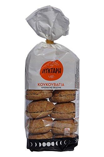 Dakos Paximadi Gerstenzwieback aus Kreta Gersten Vollkorn Zwieback Brot dunkel - original traditionell kretische griechische Spezialität 630 g