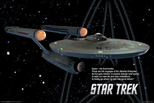 AQUARIUS Star Trek Schiff Poster