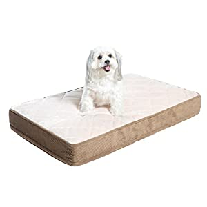 Milliard Quilted Padded Orthopedic Dog Bed, Egg Crate Foam with Plush Pillow Top Washable Cover (47 inches x 29 inhes x 4 inches)