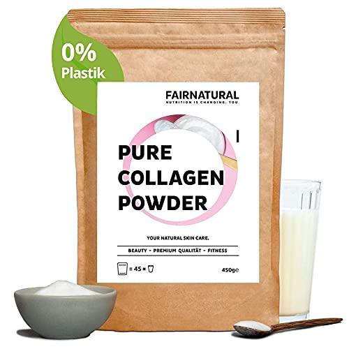 Collagen Pulver - Kollagen Hydrolysat aus Weidehaltung mit Kollagen Peptiden Typ 1, 2 & 3 - Für Haut, Nägel, Haare, Knochen & Muskeln (450g)