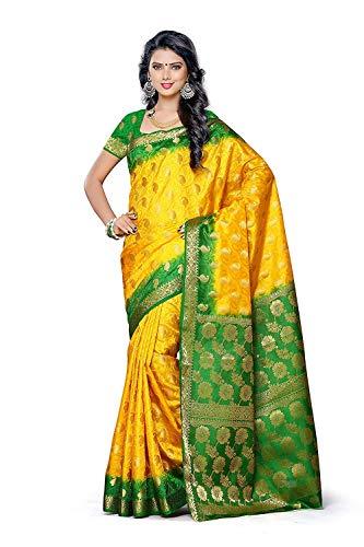 Fasherati Women's Silk Saree (103-2D-Gld,Gold,Free Size)