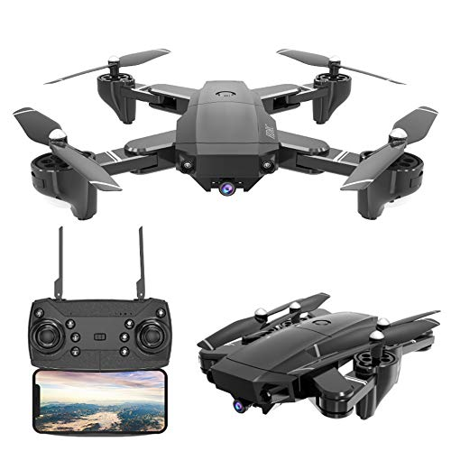 Drone with Camera 4K Foldable RC Quadcopters 2.4GHz Remote/Phone/Tablet Controlled RTF Multirotors with 120° Wide-Angle Full HD Camera Video Headless RTH 360° Flip