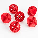 MALLIKA CREATION Washing Machine Ball Laundry Dryer Ball Durable Cloth Cleaning Ball- red Colour (6Pcs).