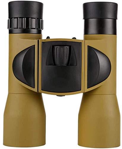WXDP Telescopio ad Alta Potenza,binoculare Leggero ad ad Alta Definizione 8X32 per Turismo alpinistico (Colore: Giallo)