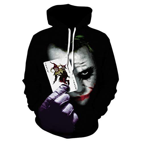 AHJSN Joker Anime Felpa Felpa Felpa Felpa Clown Costume Giacca Giacca Uomini e Donne l Oro