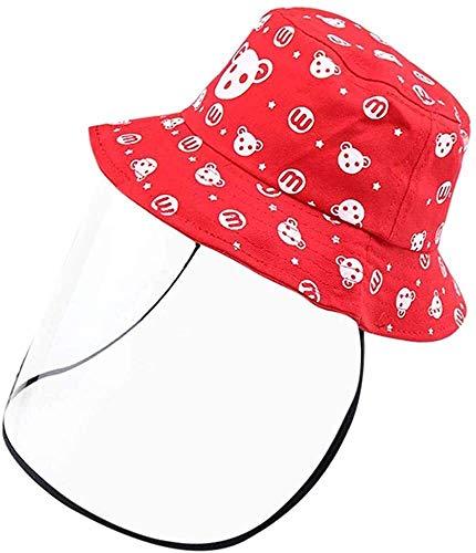 Syxfckc Bewegliche Faltbarer Kinder Hut, umweltfreundliche und geschmacklos, Außen Fischer-Hut, Sonnenschutz, weich, atmungsaktiv, strapazierfähig (Color : Pink)