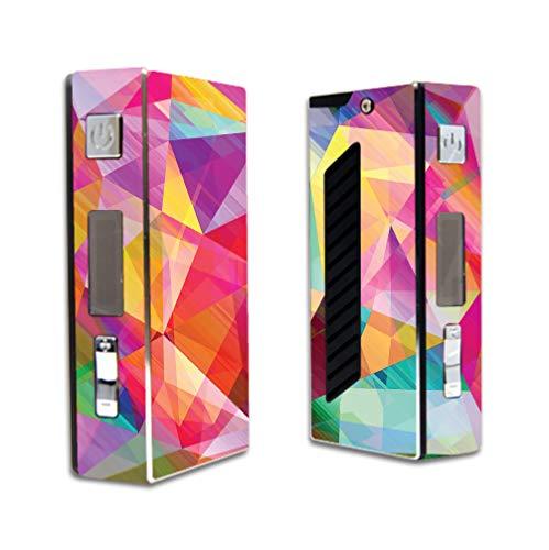 Decal Sticker Skin WRAP Bright Rainbow Polygon Design for Sigelei 50W VR2