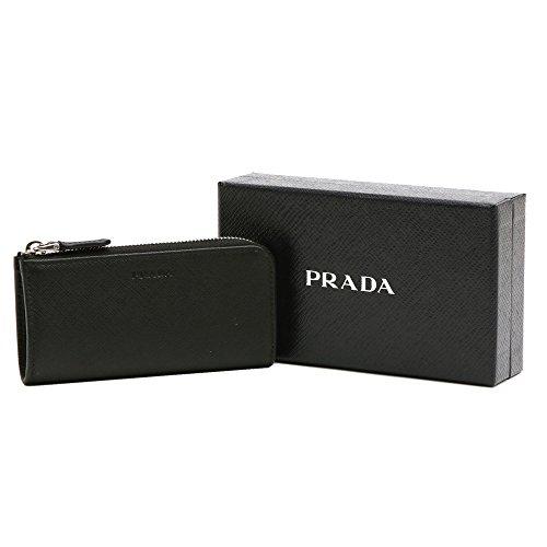 (プラダ)PRADAキーケースキーポーチ2PP058053SAFFIANONEROL字ファスナー型押しレザーブラック