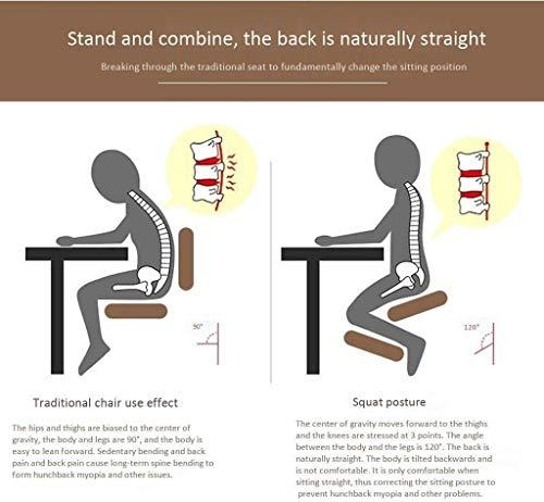 QSHG Kniend Stühle Ergonomischer Büro hinknien Posture Stuhl Sitzhaltung verbessern und am Arbeitsplatz minimieren Schmerz Richtige Sitzhaltung Kleine Hocker (Color : Blue)