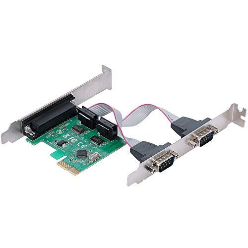 Sangmei Cartão de expansão, Placa de expansão de portas paralelas seriais PCI-E PCI Express para 1 adaptador conversor de porta serial IDE 2