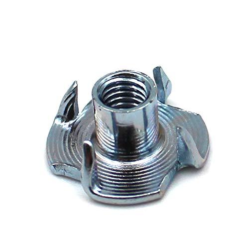 Einschlagmuttern mit 4 Einschlagspitzen verzinkter Stahl wahlweise in M4 M5 M6 M8 M10 (M8 x 11 mm, 100 Stück)