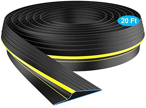 Universal Garage Door Threshold Seal, WEST BAY DIY Weather Stripping Bottom Rubber 20 Feet Length (sealant not Included)