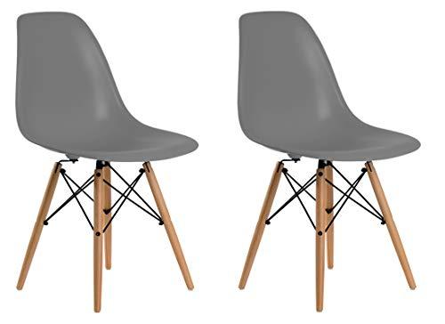 Aryana Home Eames Replica stoelen, 51 x 46,5 x 81,5 cm 51x46.5x81.5 cm Donkergrijs