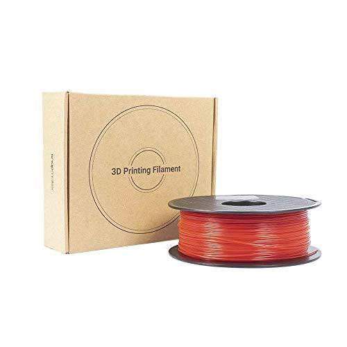 1.75mm PETG 3D Printer Filament, 1kg Spool (2.2 lbs), Red