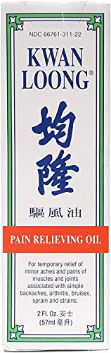 Kwan Loong Pain Relieving Medicated Oil, 2 oz. – Muscle Relief Menthol Oil – Recommended for Back Pain, Arthritis, Shoulders, Knee, Joint Discomfort, & Neck Pain – Sore Muscle Massage Oil
