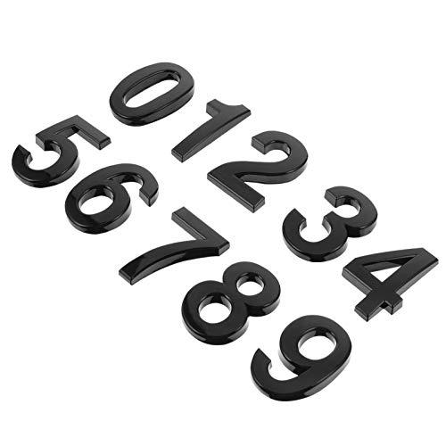 10 pegatinas autoadhesivas para números de puerta, números de buzón, números de dirección de calle para letreros de buzón (0 a 9)