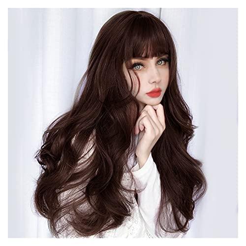 siqiwl Pelucas Mujer Pelo Natural, Woms Synthetic Wig Resistente al Calor Larga rizada Big Wig Wig con BLINS PELLAS DE Cosplay (Color : 2M33)