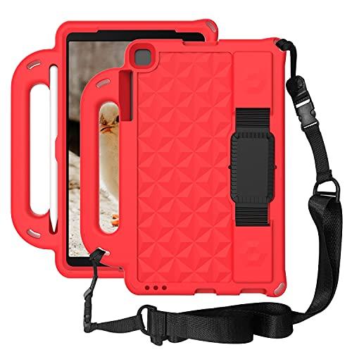 """Tablet PC Bolsas Bandolera Tablet Funda para Samsung Galaxy Tab A 10.1 """"T510 / T515 (2019), Cuerpo lleno de niños a prueba de golpes ligeros EVA Tapa protectora del soporte de la manija y la correa pa"""