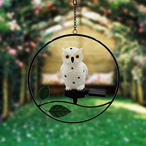 BYHUACN Little Bird - Colgante de luz solar al aire libre, impermeable, lámparas decorativas para colgar al aire libre, jardín, patio, paisaje, iluminación nocturna